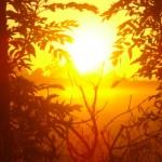 soleil se levant à La Chaze de Peyre
