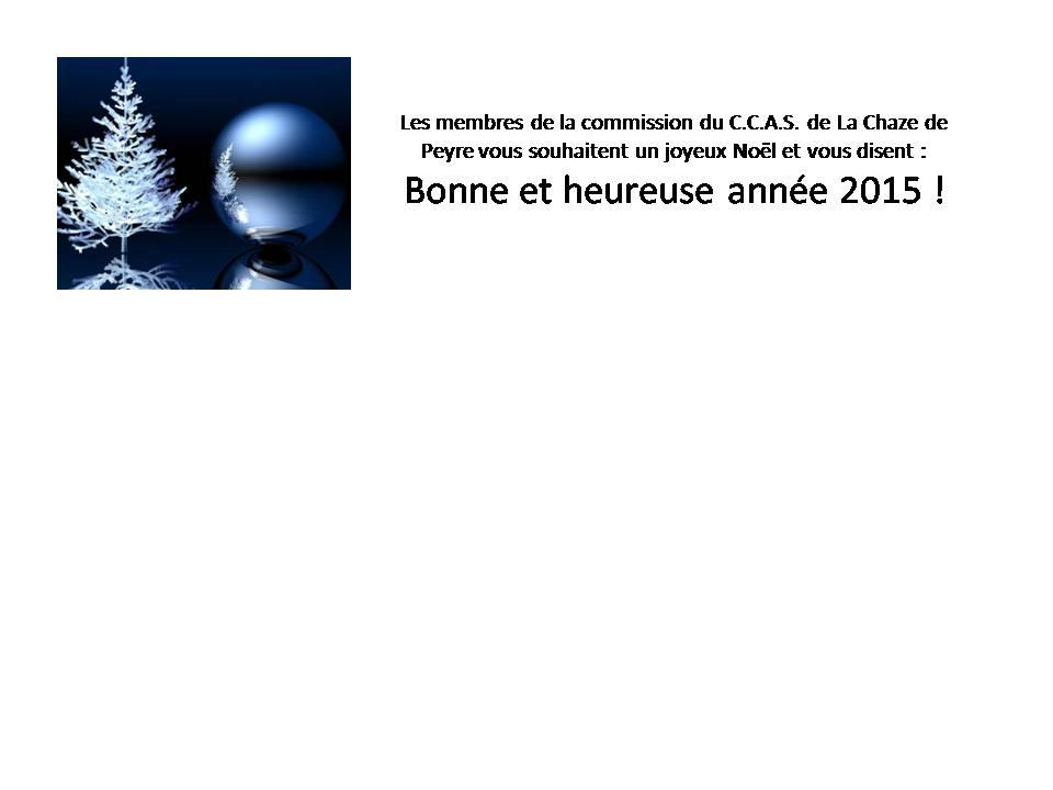 CCAS de la Chaze de Peyre : voeux 2015
