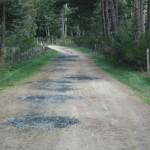 chemin rural réempierré sur le territoire communal de la Chaze de Peyre, Lozère