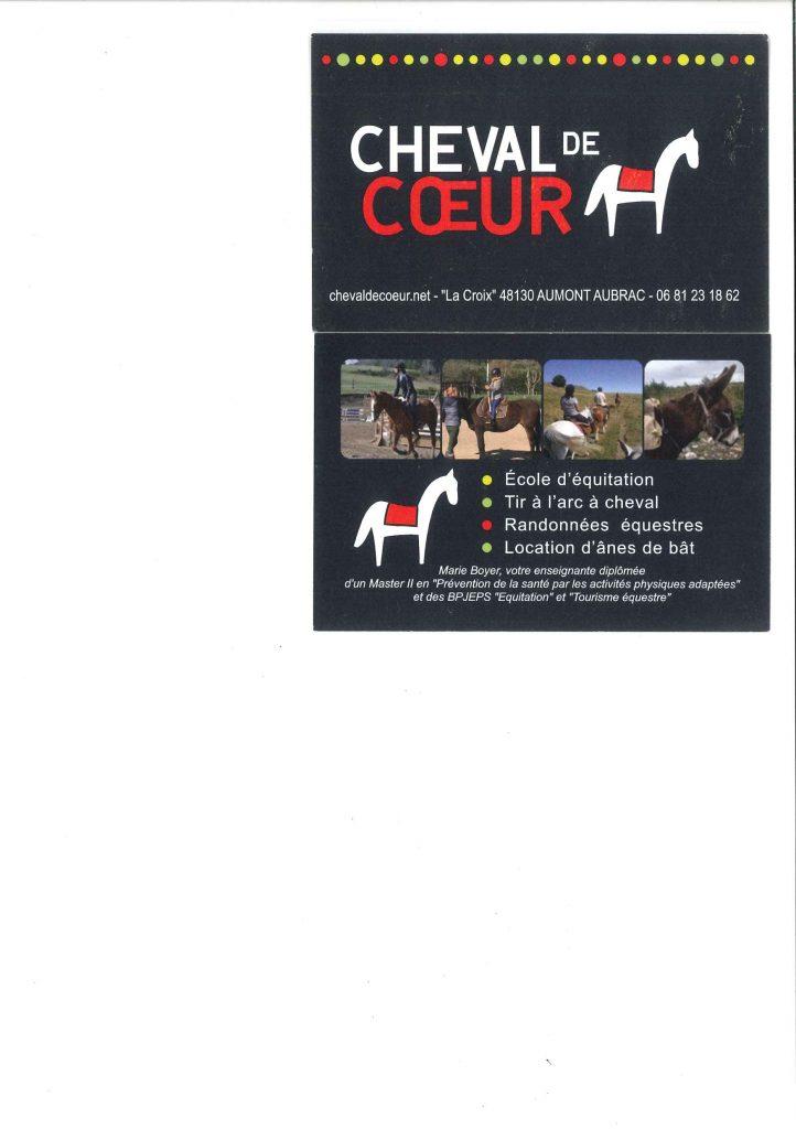 cheval de coeur à la Croix - Aumont-Aubrac, Lozère
